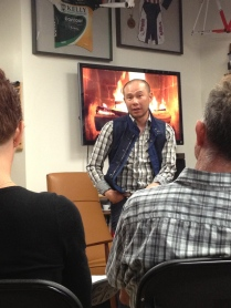 """Soaking up the wisdom at a """"fireside"""" chat with Allen Lim of Skratch Labs"""